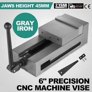 6 Precision Bench Cnc Clamping Vise Fixed Jaw Cast Iron Detachable Solid