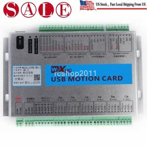Mach3 4 Axis Breakout Board Cnc Usb Motion Control Card 2mhz Mk4 v Upgrade Us