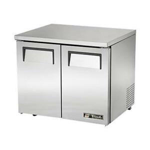 True Tuc 27 lp hc 27 Stainless Steel Low Profile Undercounter Refrigerator