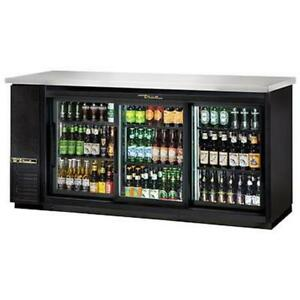 True Tbb 24 72g sd hc ld 73 Three Section Glass Door Back Bar Cooler