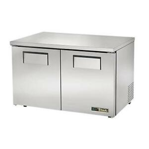 True Tuc 48 lp hc 48 Two Door Low Profile Undercounter Refrigerator
