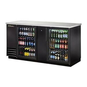 True Tbb 3g hc ld 69 Two Section Glass Door Back Bar Cooler