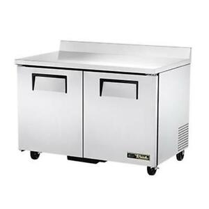True Twt 48f hc 48 Two Section Stainless Steel Work Top Freezer