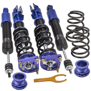 Twin tube Damper Coilover Suspension Kits For Ford Mustang 4th Gen 94 04 Blue