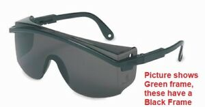 Uvex Astrospec 3000 Safety Glasses Black Frame With Smoke Grey Lens S1369 Usa