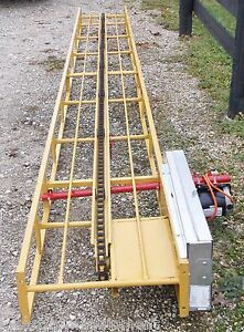 New 20 Ft Square Hay Bale Elevator With New Electric Motor we Ship Cheap