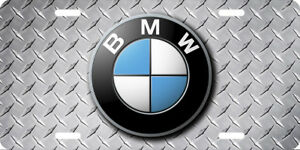 Bmw Vehicle Front License Plate Auto Tag Printed Diamond Plate Aluminum 0105