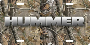 Hummer Vehicle Front License Plate Auto Tag Printed Camo Aluminum 0112