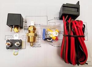 Super Hd Radiator Electric Cooling Fan Relay Kit Instructions Usa Made 40 Amp