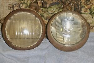 2 Vintage Driving Lights C m Hall Lamp Guide Driving Lamp 6 11 16 Lenses