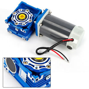 High Torque 200kg cm Turbo Worm Gearmotor Speed Reducer Metal Dc Motor 12v Us
