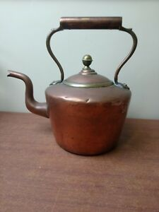 Large 19th Century Antique Copper Kettle Excellent Condition Heavy 11 High