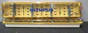 2 Olympus Instrument Sterilization Trays Perforated Surgical Two Scope Autoclave