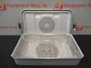 Aesculap Sterilization Tray Case Instrument Lid Basket Container 11 x18 x4 5