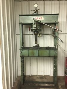 Dake Hydraulic Shop Press 70 Tons Manual Pump W electric Assistance To 50 Tons