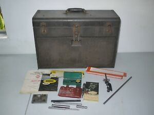 Kennedy 520 Machinist Toolbox With Many Vintage Tools Key