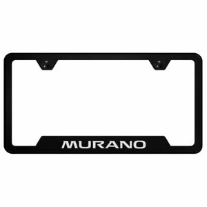 Nissan Murano Black Stainless Steel License Plate Frame Gf mur eb