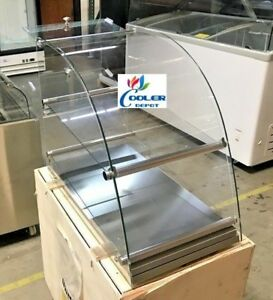 New Bakery Showcase Donuts Bagel Pastry Dry Curved Glass Display Counter Top