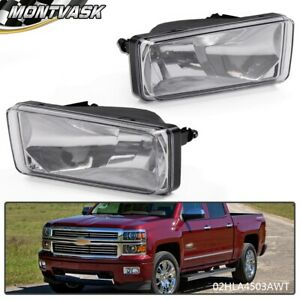 Oe Style Clear Bumper Fog Lights Driving Lamp For 2007 2013 Chevy Silverado