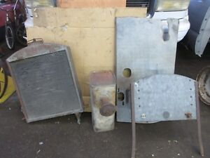 Old 1922 23 Massey harris modine Radiator gas Tank firewall modified Hood