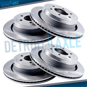 Front Rear Brake Rotors Chevy Silverado 1500 Sierra 1500 Tahoe Safari Yukon