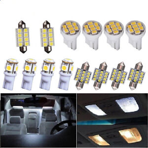 Us 14x White Led Interior Package Kit For T10 31mm Map Dome License Lights