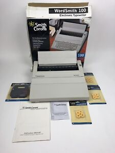 Smith Corona Wordsmith 100 Electronic Typewriter Box Manual Ribbon Bundle
