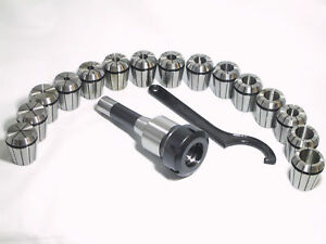 R8 Shank Er40 Chuck With 15 Pcs Collets Set For Cnc Milling Lathe Too