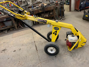 Ground Hog Hd99 Hydraulic Post Hole Digger Drill With 8 Bit Towable