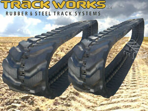Pair Of 2 Tracks Gehl 303 283z Rubber Tracks 300x52 5x78 Mini Excavator