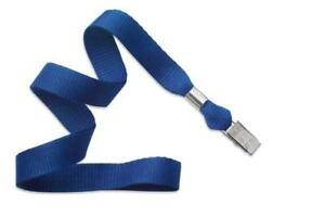Royal Blue 5 8 Lanyard With Nickel plated Steel Bulldog Clip 2136 3552