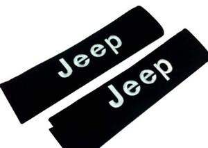 2pcs New Sport Logo Cotton Seat Belt Cover Shoulder Pad Cushion For Jeep