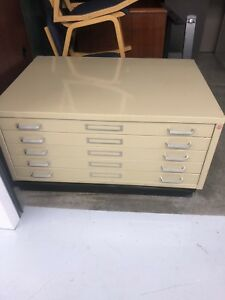 Flat File 5 Drawers Steel Cabinets