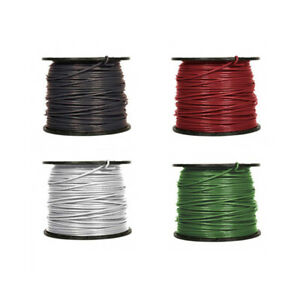 3 Awg Gauge Thhn Thwn Stranded Copper Building Wire 600v Black Green Red White