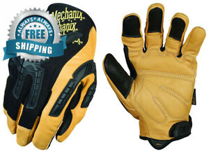 Mechanix Wear Cg Leather Heavy Duty Gloves large Brown black