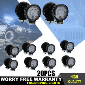 20x 27w Led Car Headlight Pods Light Flood Beam For Offroad Snow Plow Truck Lamp