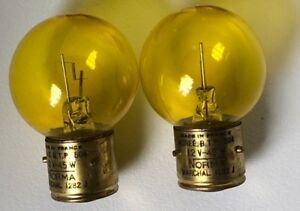 Porsche 356 Marchal Light Bulbs Nos Yellow 12 Volt 45 Watt