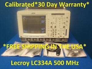 Lecroy Lc334a 500 Mhz 4 Ch Digital Oscilloscope W 4 Probes Loaded W Opts