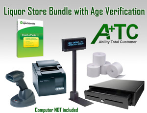 Liquor Store Quickbooks Point Of Sale V18 Pro Age Verification W Pos Hardware