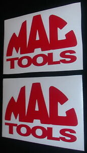 2 Mac Tools 6 Red Decals Stickers For Trucks Cars Toolbox Window Shop