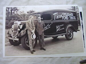 1935 Ford 3 Millionth Ford Truck Henry An Edsel 11 X 17 Photo Picture