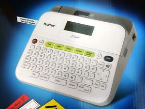 New Brother P touch Pt d400 Compact Electronic Label Maker Printer