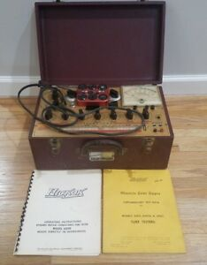Hickok 6000 Vintage Mutual Conductance Tube Tester W Copy Of Manual