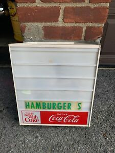Vintage Coca-Cola Light Up Menu Board Diner