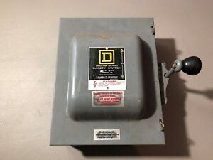 Used Square D Safety Switch 82262 Series E2