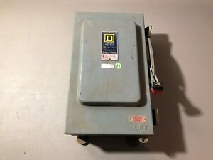 Used Square D Safety Switch H4212awk Series E1 broken Latch