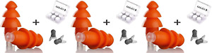 Earjoy Ear Plugs Noise Reduction For Sleeping Swimming Musicians pack Of 3