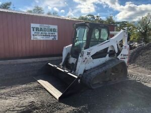 2010 Bobcat T650 Tracked Skid Steer Loader W Cab High Flow
