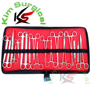 18 Pcs Us Military Field Minor Surgery Surgical Veterinary Dental Instrument Kit