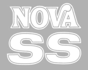 1975 1976 Chevy Nova Ss Fender And Trunk Decals 1 Color New Set Of 3